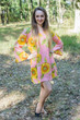 """Bella Tunic"" kaftan dress in Sunflower Sweet pattern"