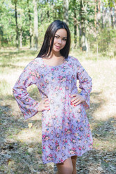 """Bella Tunic"" kaftan dress in Vintage Chic Floral pattern"