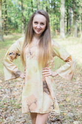 """Bella Tunic"" kaftan dress in Watercolor Splash pattern"