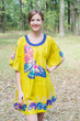 """Summer Celebration"" Tunic Dress kaftan in Big Butterfly pattern"