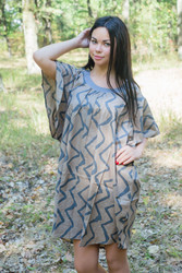 """Summer Celebration"" Tunic Dress kaftan in Chevron pattern"