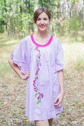 """Summer Celebration"" Tunic Dress kaftan in Climbing Vines pattern"
