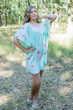 """Summer Celebration"" Tunic Dress kaftan in Falling Daisies pattern"