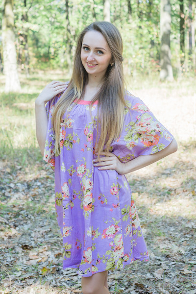 """Summer Celebration"" Tunic Dress kaftan in Flower Rain pattern"