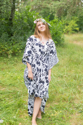 """High Low Wind Flow"" kaftan in Classic pattern"
