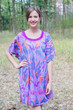 """Summer Celebration"" Tunic Dress kaftan in Ikat Aztec pattern"