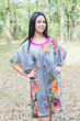 """Summer Celebration"" Tunic Dress kaftan in Large Floral Blossom pattern"