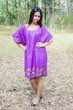 """Summer Celebration"" Tunic Dress kaftan in Little Chirpies pattern"