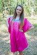 """Summer Celebration"" Tunic Dress kaftan in Ombre TieDye pattern"