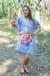 """Summer Celebration"" Tunic Dress kaftan in One Long Flower pattern"