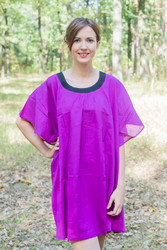 """Summer Celebration"" Tunic Dress kaftan in Plain and Simple pattern"