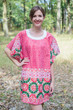 """Summer Celebration"" Tunic Dress kaftan in Round and Round pattern"