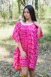 """Summer Celebration"" Tunic Dress kaftan in Tribal Aztec pattern"
