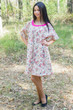"""Summer Celebration"" Tunic Dress kaftan in Vintage Chic Floral pattern"