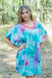 """Summer Celebration"" Tunic Dress kaftan in Watercolor Splash pattern"