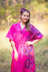"""The Drop-Waist"" kaftan in Abstract Florals pattern"