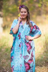 """The Drop-Waist"" kaftan in Butterfly Baby pattern"