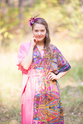 """The Drop-Waist"" kaftan in Cheerful Paisleys pattern"