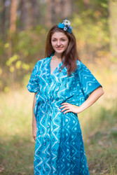 """The Drop-Waist"" kaftan in Chevron Dots pattern"