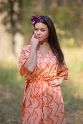 """The Drop-Waist"" kaftan in Chevron pattern"