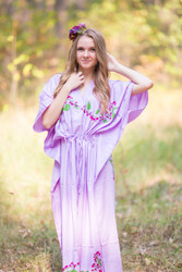 """The Drop-Waist"" kaftan in Climbing Vines pattern"