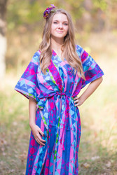 """The Drop-Waist"" kaftan in Diamond Aztec pattern"