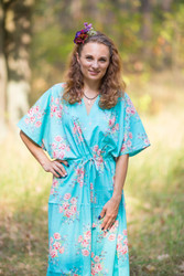 """The Drop-Waist"" kaftan in Faded Flowers pattern"