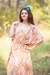 """The Drop-Waist"" kaftan in Floral Posy pattern"