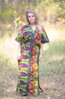 """The Drop-Waist"" kaftan in Glowing Flame pattern"