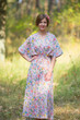 """The Drop-Waist"" kaftan in Happy Flowers pattern"