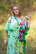 """The Drop-Waist"" kaftan in Jungle of Flowers pattern"