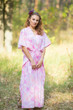 """The Drop-Waist"" kaftan in Ombre Fading Leaves pattern"