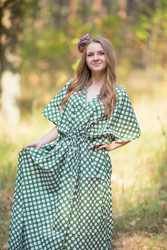 """The Drop-Waist"" kaftan in Polka Dots pattern"