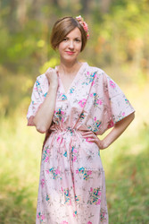 """The Drop-Waist"" kaftan in Romantic Florals pattern"