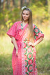 """The Drop-Waist"" kaftan in Round and Round pattern"