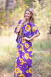 """The Drop-Waist"" kaftan in Sunflower Sweet pattern"