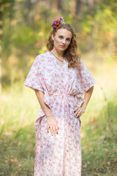 """The Drop-Waist"" kaftan in Tiny Blossoms pattern"