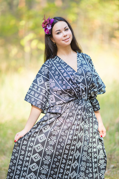 """The Drop-Waist"" kaftan in Tribal Aztec pattern"