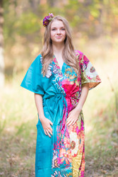 """The Drop-Waist"" kaftan in Vibrant Foliage pattern"