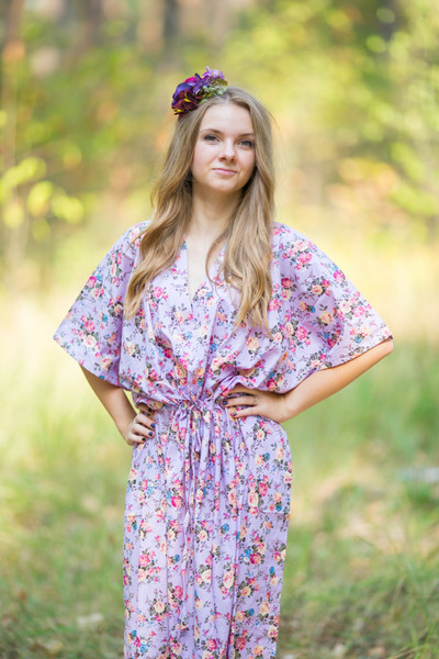 """The Drop-Waist"" kaftan in Vintage Chic Floral pattern"