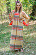 """Fire Maiden"" kaftan in Abstract Geometric pattern"