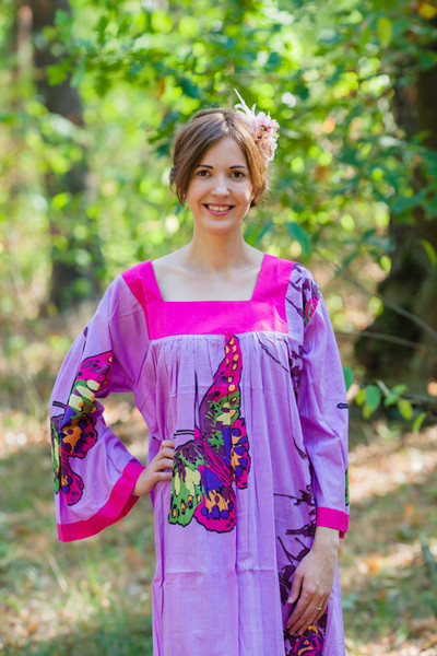 """Fire Maiden"" kaftan in Big Butterfly pattern"