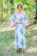 """Fire Maiden"" kaftan in Blooming Flowers pattern"