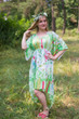 """High Low Wind Flow"" kaftan in Floral Watercolor Painting pattern"