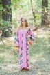 """Fire Maiden"" kaftan in Butterfly Baby pattern"