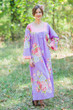 """Fire Maiden"" kaftan in Cabbage Roses pattern"