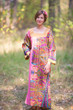 """Fire Maiden"" kaftan in Cheerful Paisleys pattern"