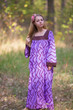"""Fire Maiden"" kaftan in Chevron pattern"