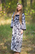 """Fire Maiden"" kaftan in Classic White Black pattern"