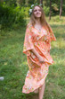"""High Low Wind Flow"" kaftan in Flower Rain pattern"
